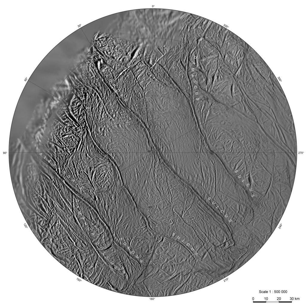 Wärme-Anomalien in der Nähe des Enceladus-Südpols gefunden