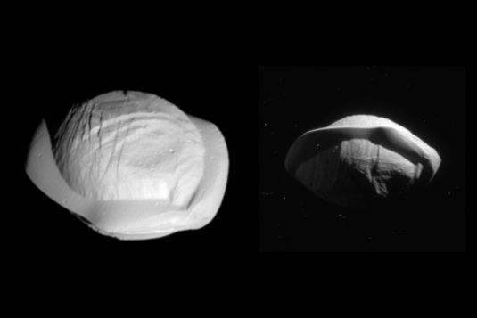 Saturn-Mond Pan: die Walnuss in Space