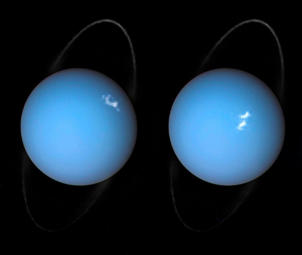 Hubble-Teleskop sieht Polarlichter auf Uranus