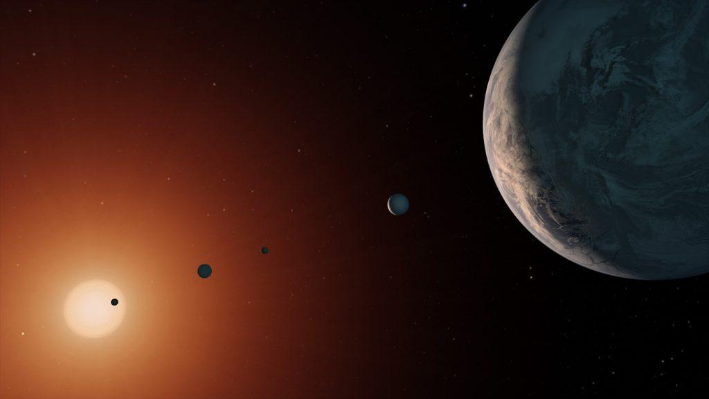 Trappist-1 ist deutlich älter als das Sonnensystem