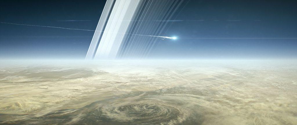 Zeit zum Abschiednehmen: Live dabei, wenn die Cassini-Sonde in den Saturn stürzt