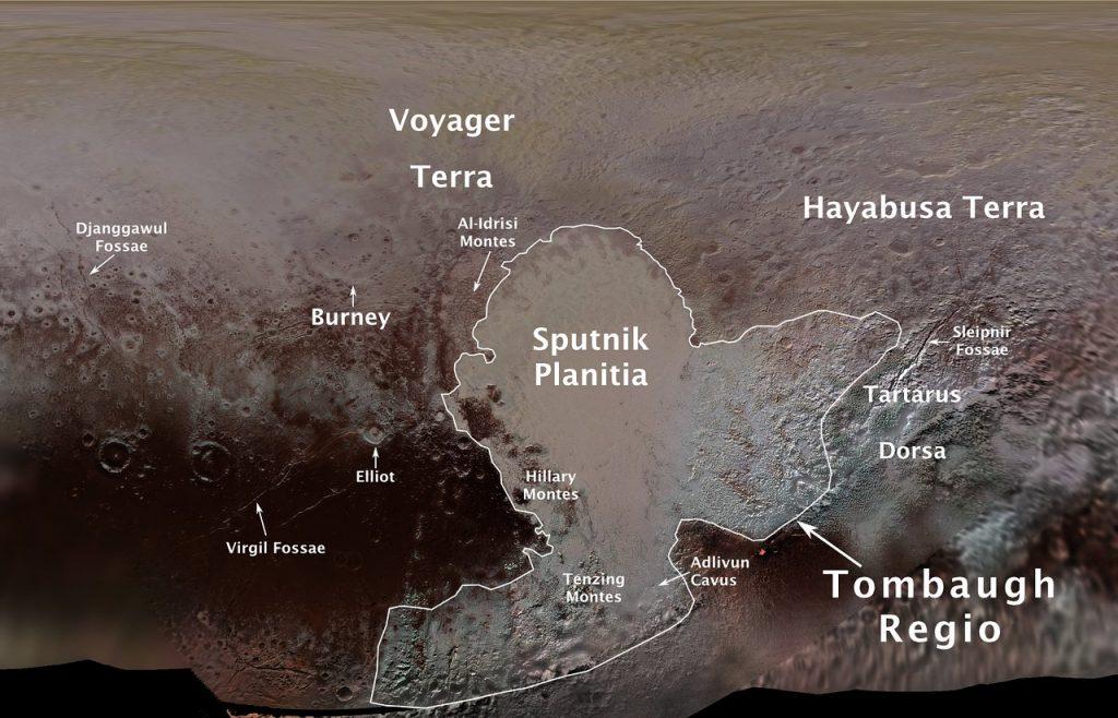 Neue Landkarten für Pluto: IAU legt Namen fest