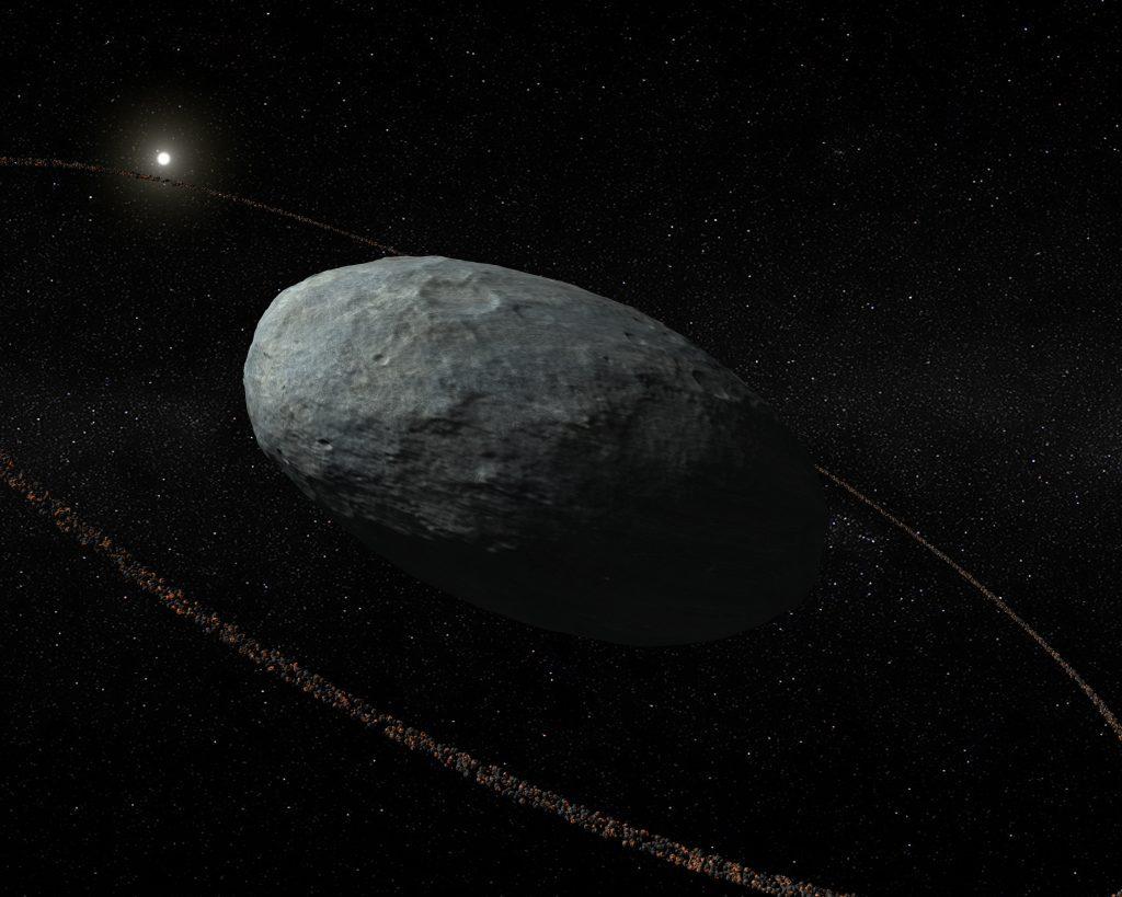 Auch Zwergplanet Haumea besitzt einen Ring