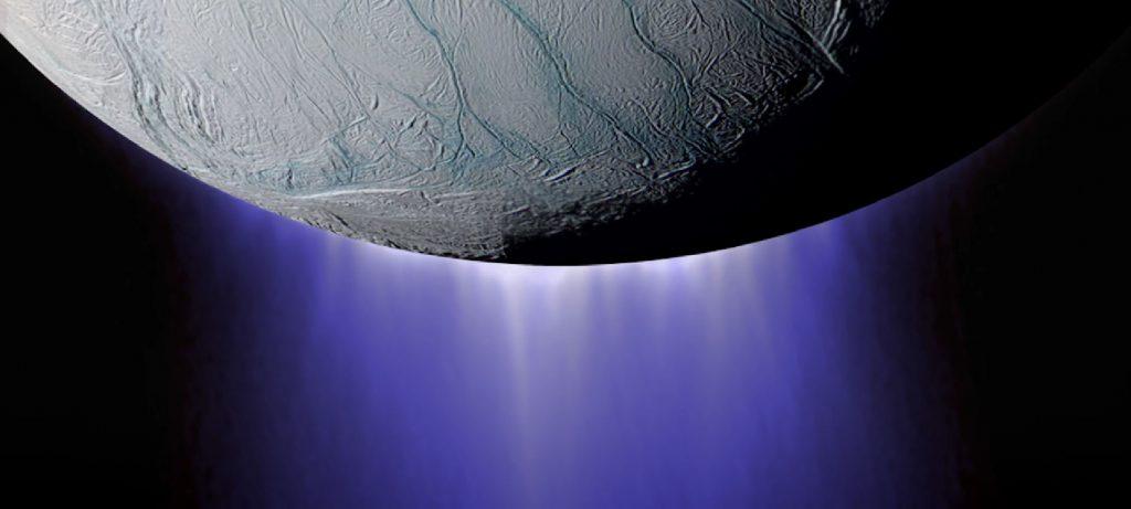 Reich gedeckte Speisekarte im Enceladus-Ozean