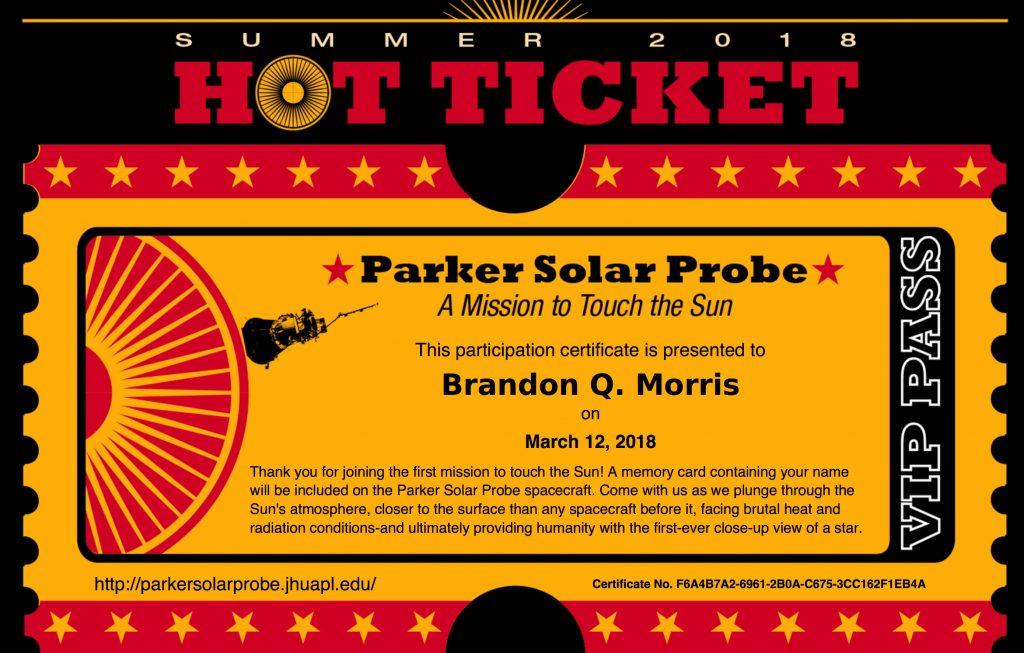 Fliegen Sie mit der Parker Solar Probe der NASA zur Sonne!