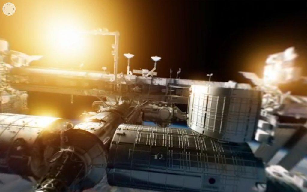 Die ISS im 360-Grad-Panorama-Film