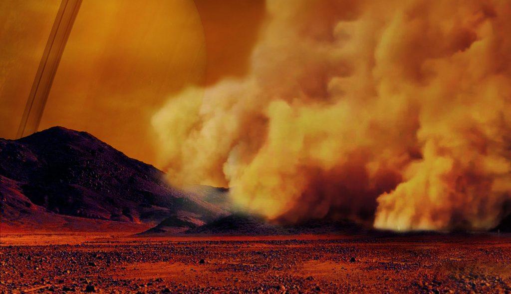 Staubstürme auf Saturnmond Titan entdeckt