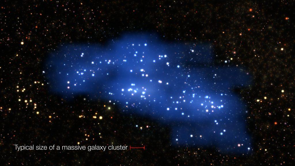Hyperion, ein Galaxien-Superhaufen im frühen Universum