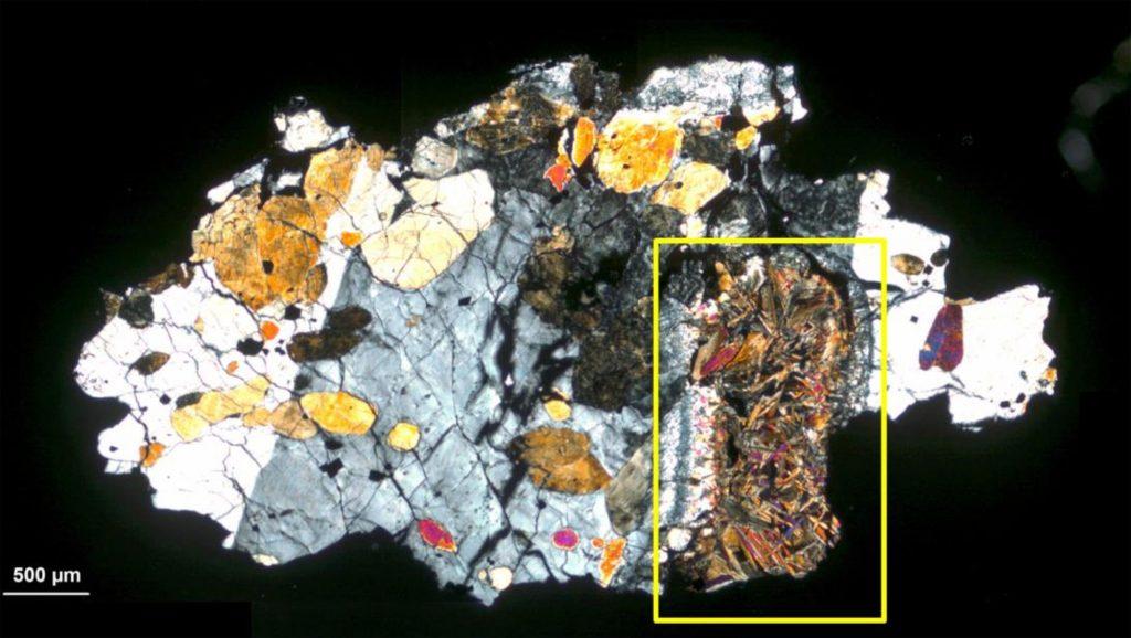Spuren von Leben in einem Meteoriten vom Mars