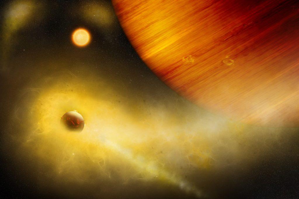 Exo-Io: Vulkanischer Exo-Moon im Orbit von WASP-49 b?