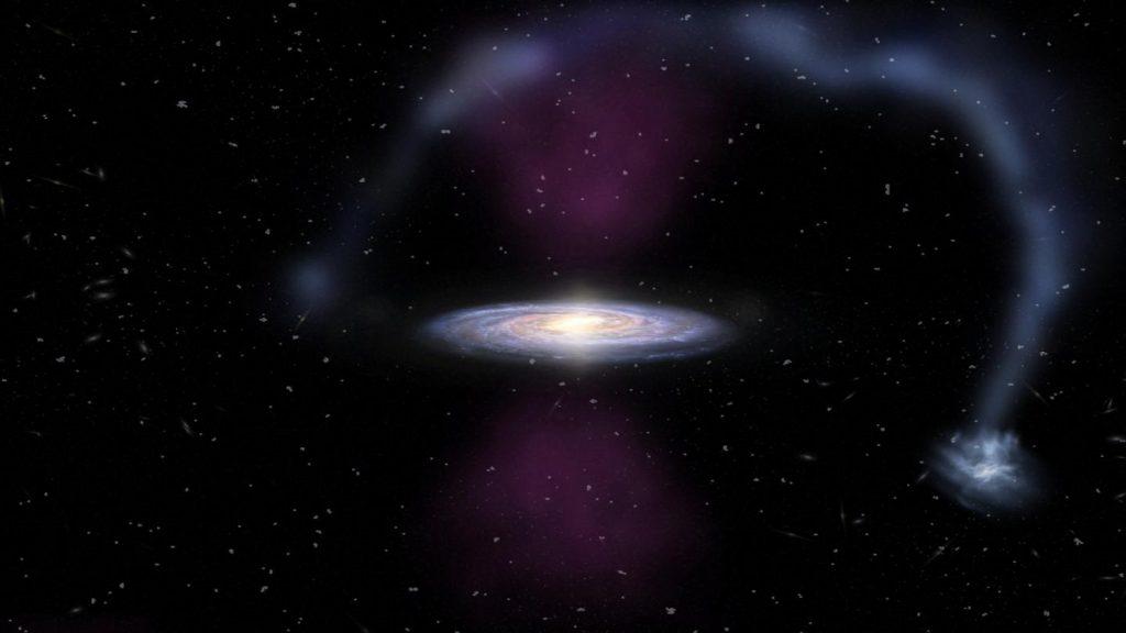 Wie vor nicht allzu langer Zeit einmal der Kern der Milchstraße explodierte
