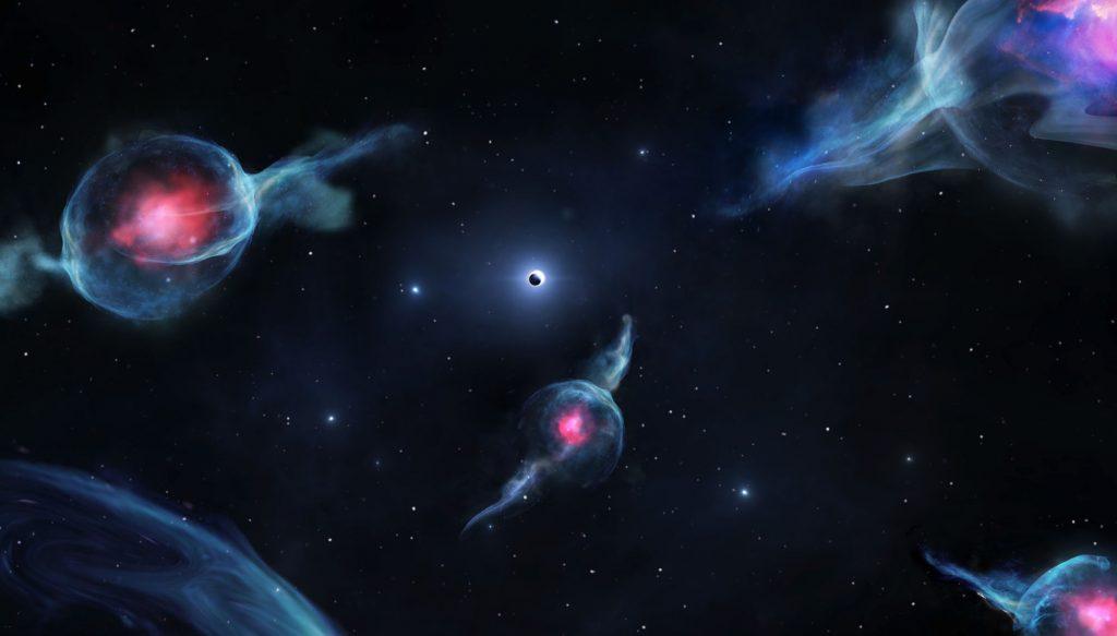 Seltsame Objekte im Zentrum der Milchstraße