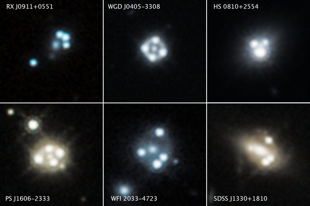 Hubble weist kleine Klumpen Dunkler Materie nach