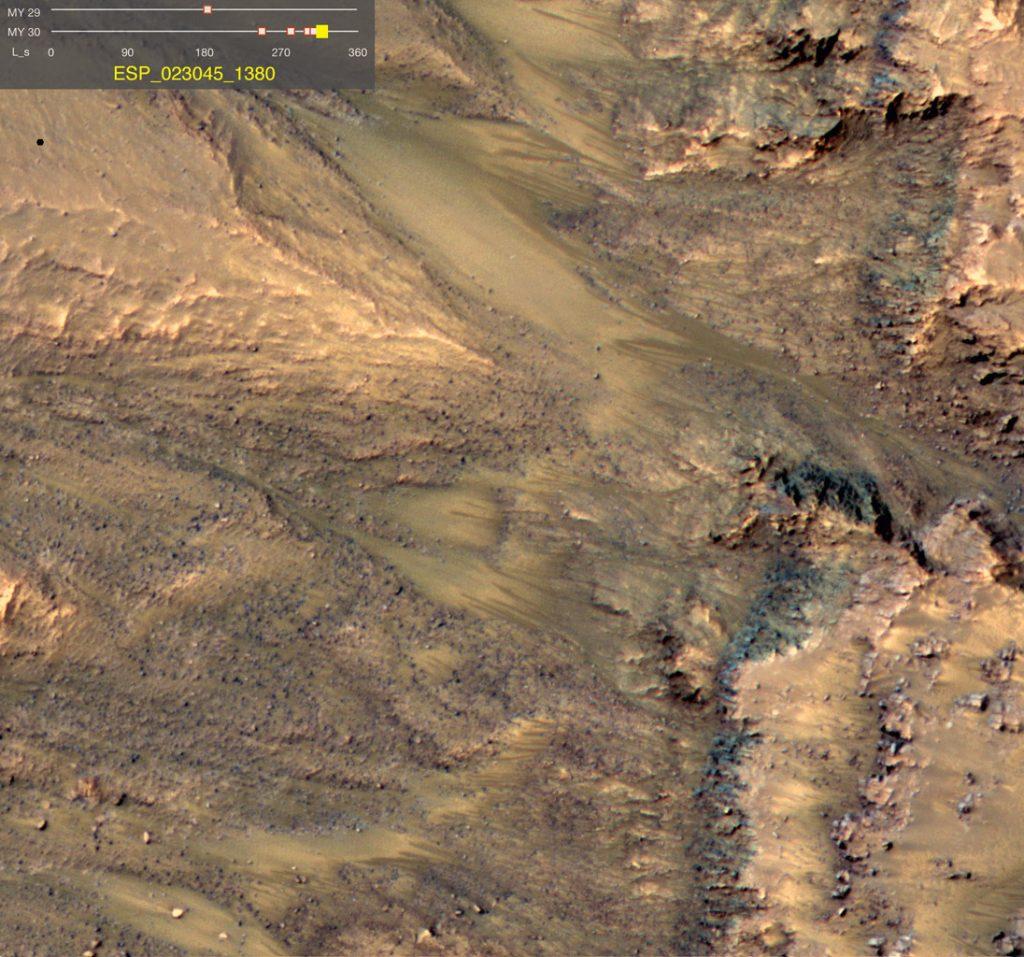 Salzige Mars-Pfützen kein Lebensraum