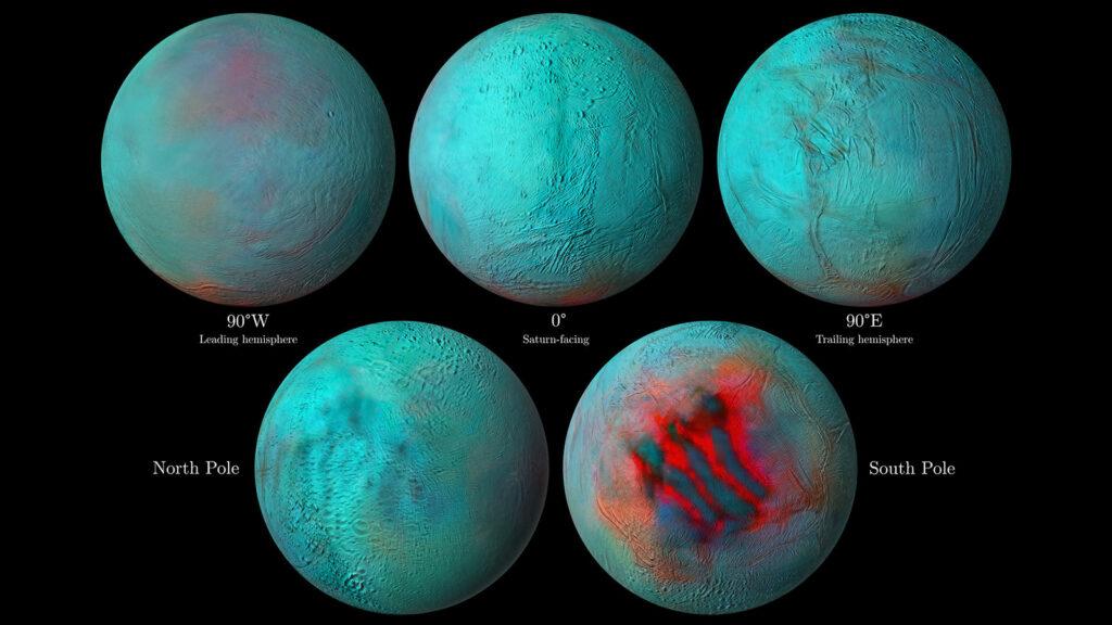 Frisches Eis auch am Enceladus-Nordpol