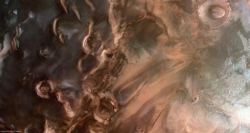 Salzseen unter dem Südpol des Mars