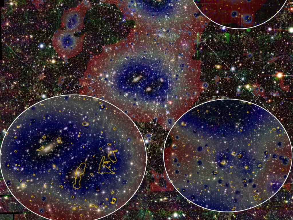 Intergalaktische Gasfilamente durchziehen das Universum