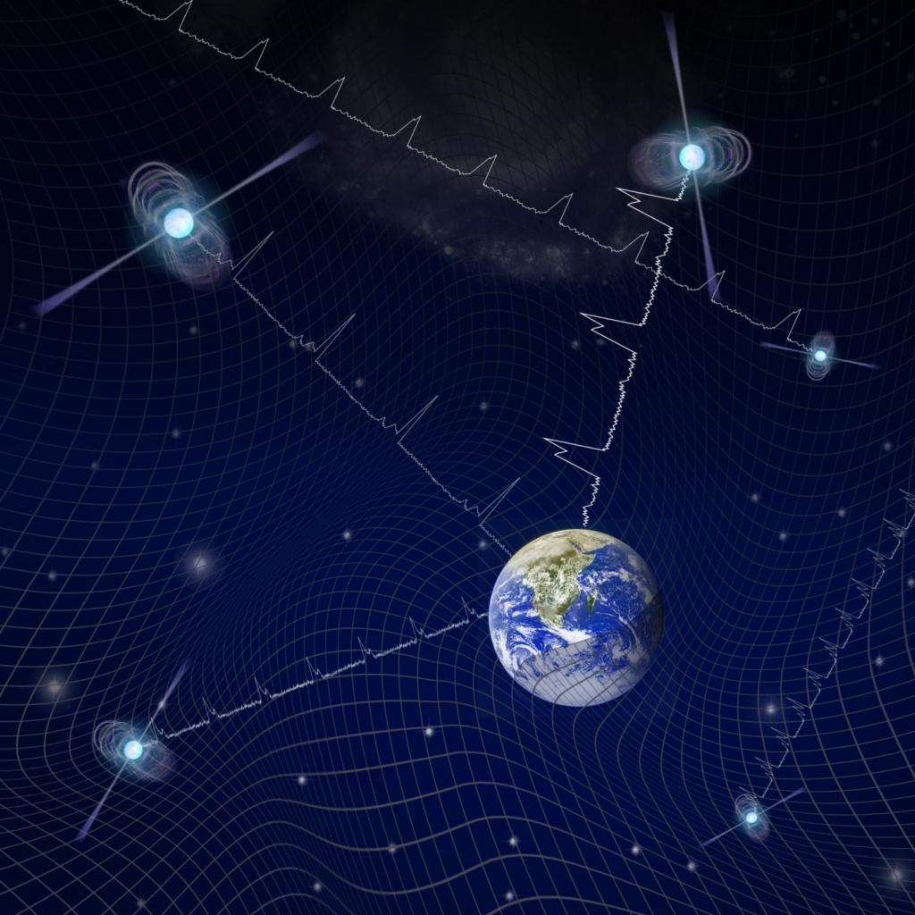 Wie die Erde auf dem Meer der Raumzeit schaukelt