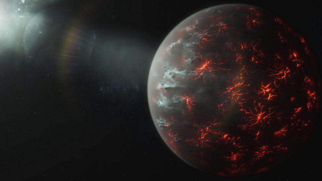 Wie ein Vulkan auf einer Metallwelt aussehen würde