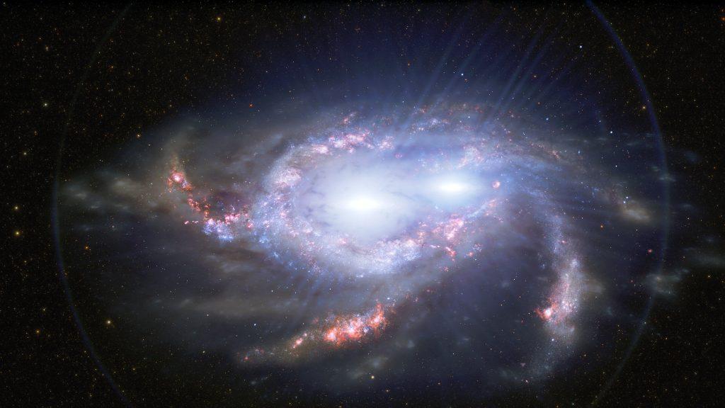 Zwei Quasarpaare im frühen Universum