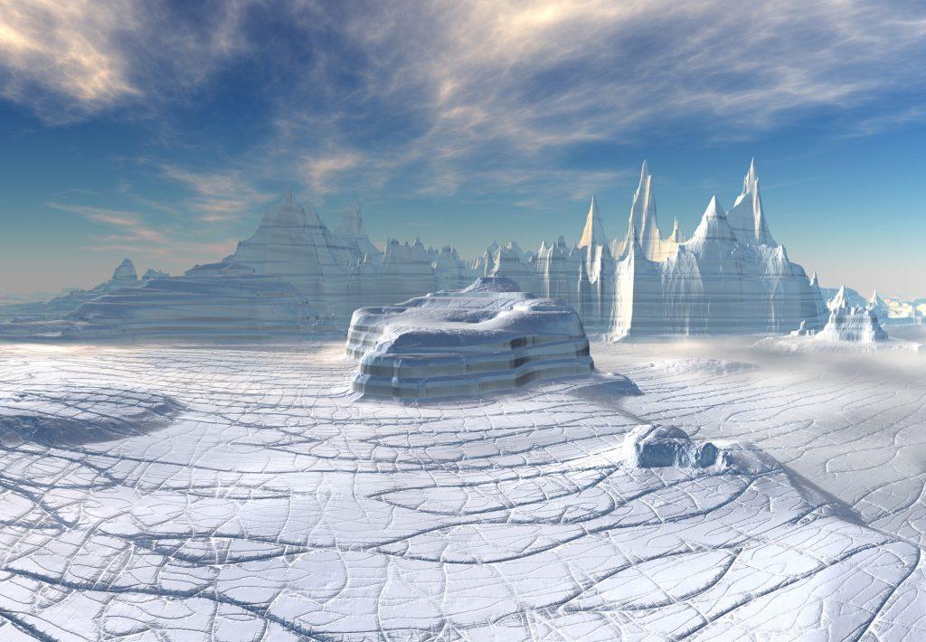 Wasser-Ozeane in der Kruste von Eisplaneten