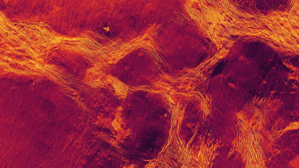 Tektonische Bewegungen auf der Venus