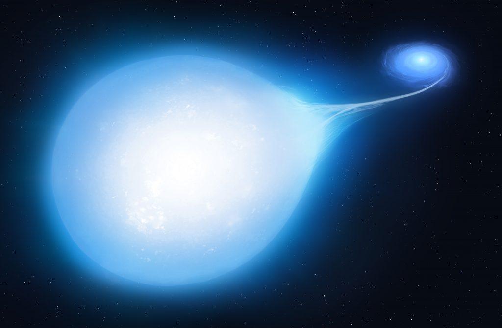 Supernova durch Überfressen